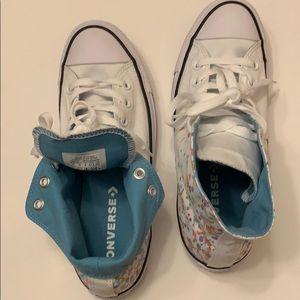 Multi-color hi-top Converse sneakers